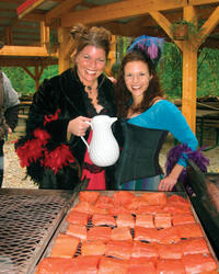 Skagway Salmon Bake at Historical Liarsville Camp