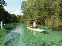 Paddleboard Tour of St Petersburg's Spring River