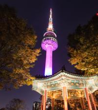 Night Views of Seoul including N Seoul Tower and Han River Cruise