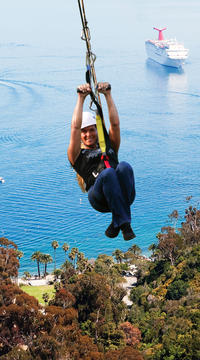Catalina Island Day Trip from Anaheim or Los Angeles with Zipline Adventure