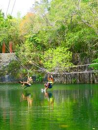 Xenotes Oasis Maya: Cenotes Adventure from Playa del Carmen