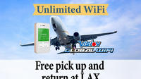 Unlimited WiFi In Los Angeles USA, pick up at LAX  Airport Private Car Transfers
