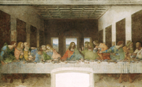 Admire 'The Last Supper,' a Da Vinci masterpiece