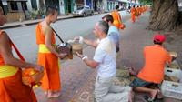 Morning Almsgiving and Market Tour in Luang Prabang