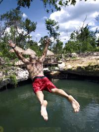 Cancun Adventure Tour at Selvatica: Zipline, Aerial Bridge, Buggy, Bungee Swing and Cenote Swim