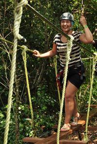 Playa del Carmen Combo Tour at Selvatica: Off-Road Buggy, Aerial Bridges and Zipline Adventure