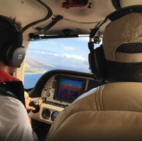 Maui Introductory Flight Lesson: Round-Trip to Molokai