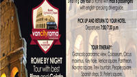 Panoramic Rome by night with best Pizza & Gelato