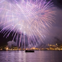 Watch the fireworks over the Bay of Cannes after dinner*