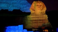 Pyramids and Sphinx Sound and Light Show from Giza