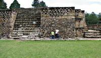Iximche Mayan Ruin from Panajachel