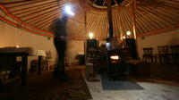 Snowshoeing and Dinner under the yurt in Megeve
