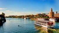 Seville Sightseeing Tour with Aquarium and Boat Trip on Guadalquivir River