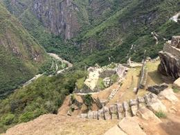 Looking down the hill from Machu Picchu in the direction of Aqua Caliente. , Michael M - January 2017