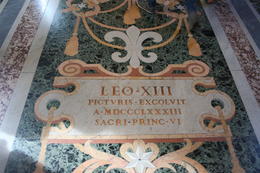 Marble floor in the Museum , Jacques L - August 2017