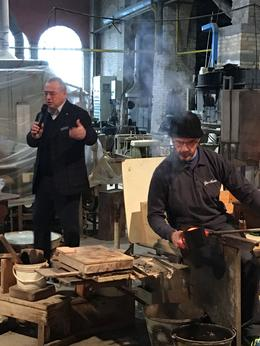 Glass blowing showcase by a local 'maestro' host speaks 4 languages , Vic - February 2018