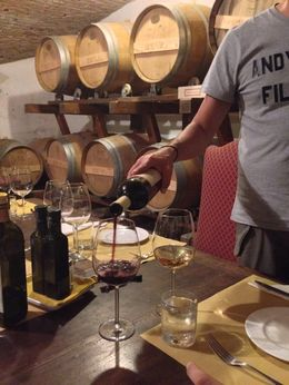 The wine and food in the wine cellar of the 13th century villa was pret-ty amazing. , kmaryanderson - October 2014