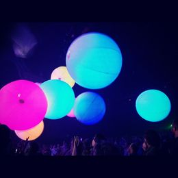 Floating balls at Blue Man Group, World Traveler - December 2012