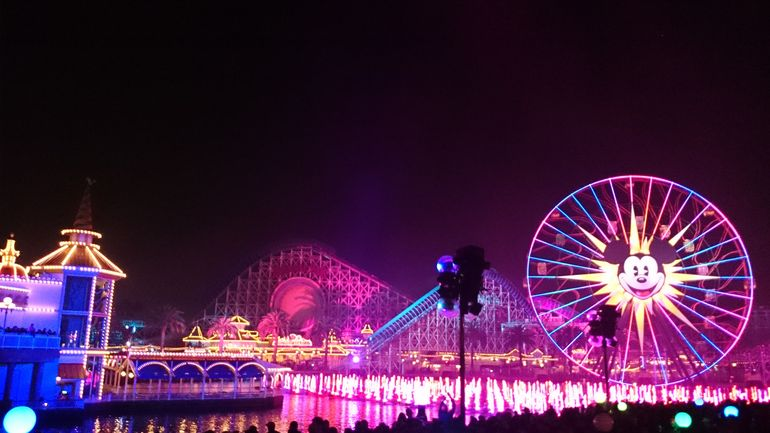 California Adventure Park - Water of Color Show - Anaheim & Buena Park