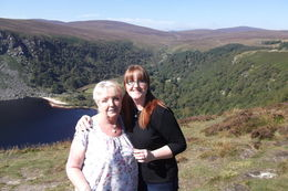 This is me, Eve Cracknell and my mum, Sue Cracknell - standing in front of The Guiness Lake at Wicklow, Ireland on our Wild Wicklow Tour 2014!! , Eve G C - September 2014