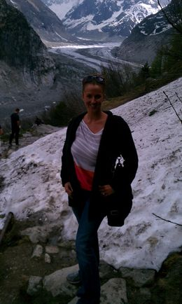 Heading down to the glacier , Kimberley W - June 2012