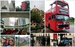 Houston City Tour. Dorothy and Lin. Cool double decker bus, Main street, midtown. Houston Chronicle, Street art and more. , Dorothy D - August 2016