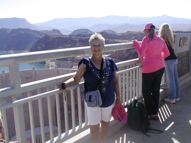 Jean on the expansion bridgre - Las Vegas