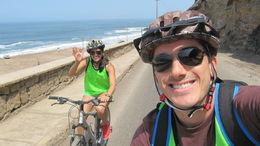 Riding along the Lima coast, Roberto B - March 2014