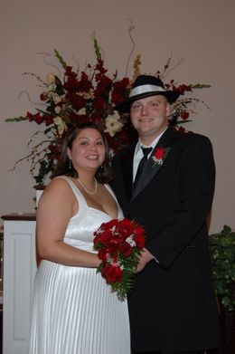 my wife and I after the ceremony, ROSA J N - November 2009