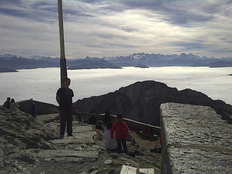 On top of Esel 6957 feet on Mt Pilatus - Zurich