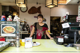 A shop owner in Japantown, Viator Insider - June 2014