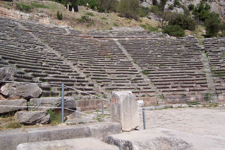 Temple of Apollo ~ Athenian Treasury ~ Temple of Athena ~ Theatre of Delphi (74) - Athens