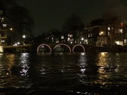 Pont éclairé vu du bateau , Fadette M - February 2015