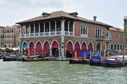 The Rialto market on the Grand Canal in Venice - May 2011