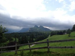 This was the view from the Heidi House. Even with the storm, it's gorgeous. , Staci C - July 2012