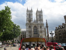 A view of the front of Westminster Abbey , Susan B - July 2015