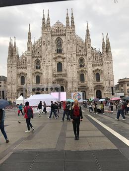 My Daughter Taylah ouside the Duomo - Milan , Robbie H - October 2017