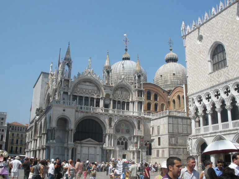 A view of the Side of St. Mark's Basilica - Venice
