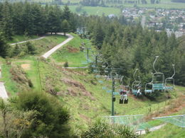 Chair lifts which carry you back up to the luge track., Bandit - November 2011
