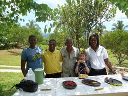 Croydon Plantation: Michelle, Winston, Mr. Hannah, our son Spencer and Alicia - November 2011