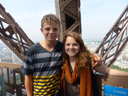 from the roof top of Jules Verne restaurant , Zosia - August 2013