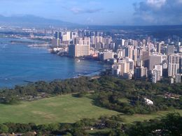 Magnificent view of Waikiki from Diamond Head. , Linda Z - June 2011