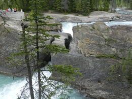 A natural land bridge created by the action of the Kicking Horse River near Field, BC , Amadeo P - August 2016