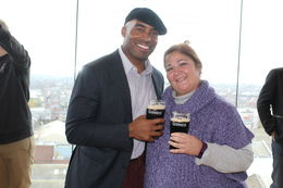Tiki Barber at the Guinness's Brewery! , Anna H - January 2016