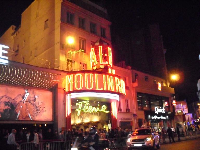 Outside the Moulin Rouge - Paris