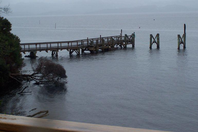 Pier on Sarah Island - Tasmania