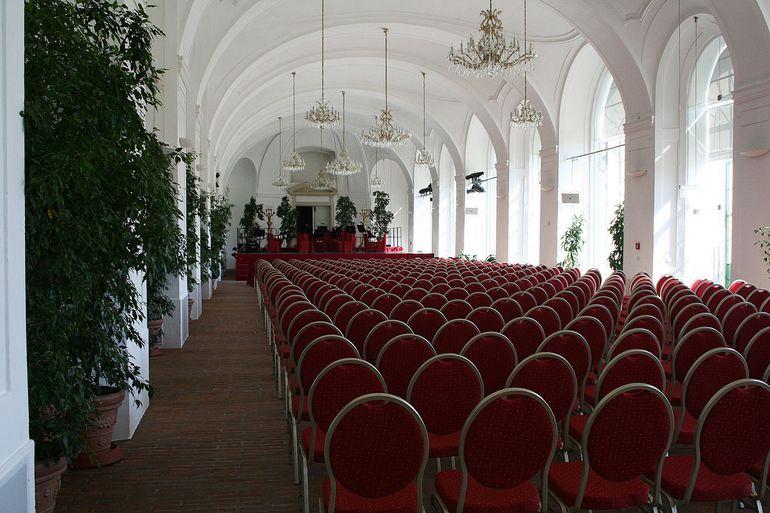 Schonbrunn Palace evening concert setup - Vienna