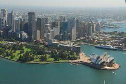 Sydney Opera House and the harbour, from the seaplane., Jeff - February 2008
