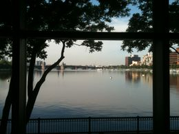 View of the Charles River, behind the Musem - June 2011