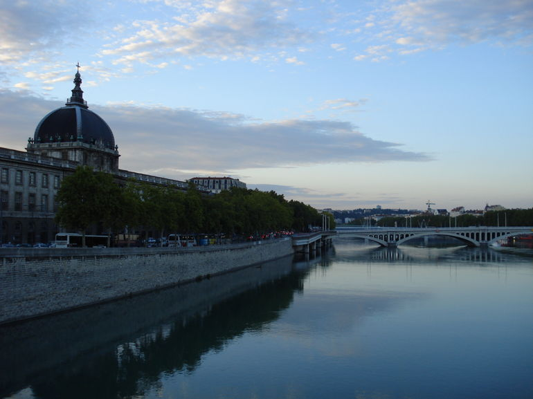View of the Rhone River - Lyon